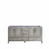 Jacques 72'' Distressed Grey Vanity Base Cabinet Only, 71''W x 21-1/2''D x 33-1/4''H