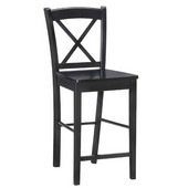 Black X Back Bar Stool, 16''w x 17.91''d x 42.91''h