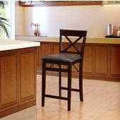 Triena X Back Folding Counter Stool, Espresso, 17''W x 20''D x 37''H