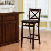 Triena X Back Folding Bar Stool, Espresso, 17''W x 20''D x 43''H