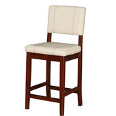 24'' Milano Counter Stool, 18'' W x 19-1/4'' D x 38-1/4'' H, Cream Finish