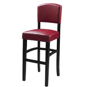24'' Monaco Counter Stool, Dark Red, 17-3/4''W x 19-1/2''D x 38''H