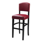 30'' Monaco Bar Stool, Dark Red, 17-3/4''W x 19-1/2''D x 44-4/5''H