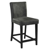 Morocco Counter Stool, Charcoal, 17-3/4''W x 22''D x 37''H