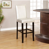 Stewart Pearl Bar Stool in Black Finish and Sizzle Pewter Fabric, 18'' W x 22'' D x 47'' H