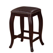 San Francisco Square Top Counter Stool - Brown, 14-3/4''W x 14-3/4''D x 24''H