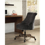 Sinclair Office Chair Charcoal - Washed Wood Base , Gray, 23''W x 26-3/4''D x (35 -- 39)''H