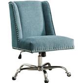 Draper Office Chair Aqua - Base, Chrome, 24''W x 26''D x (37 -- 41)''H