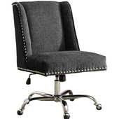 Draper Office Chair Charcoal - Base , Chrome, 24''W x 26''D x (37 -- 41)''H