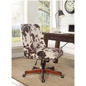 Draper Office Chair Udder Madness Milk - Wood Base, Walnut, 24''W x 26''D x (37 -- 41)''H