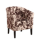 Simon Club Chair in Black Hardwood Frame Finish and Udder Madness PU Fabric, 28-1/4'' W x 25-1/2'' D x 33'' H
