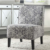Coco Accent Chair - Gray Damask, 22-1/2''W x 30''D x 33''H