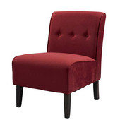 Coco Accent Chair - Red, 22-1/2''W x 30''D x 33''H
