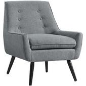 Trelis Chair - Gray Flannel, Black, 27-1/2''W x 30-3/4''D x 32-1/4''H