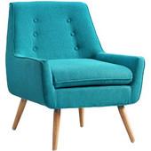 Trelis Chair - Bright Blue, Blond, 27-1/2''W x 30-3/4''D x 32-1/4''H