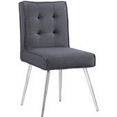 Astra Dark Gray Chair, Chrome, 16-3/4''W x 22-13/16''D x 32-3/4''H