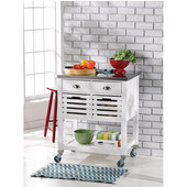 Robbin Kitchen Cart, White, 30''W x 22-1/16''D x 36''H