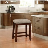 Kennedy Backless Tweed Counter Stool, Walnut, 20-1/2''W x 14-1/2''D x 25''H