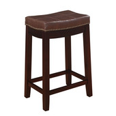 Claridge Counter Stool, Patches Brown, 18''W x 12-1/2''D x 26''H