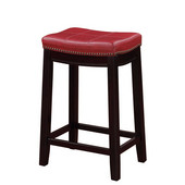 Claridge Red Counter Stool, 18''W x 12-3/4''D x 26''H
