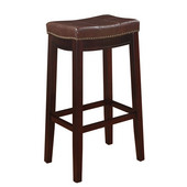 Claridge Counter Stool, Patches Brown, 18-3/4''W x 13-1/4''D x 32''H