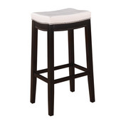 Claridge Counter Stool, Patches White, 18-3/4''W x 13-1/4''D x 32''H