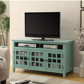 Largo Media Cabinet in Turquoise, 48'' W x 20'' D x 27'' H
