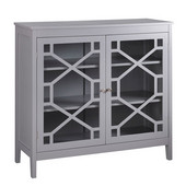 Fetti Large Cabinet in Gray, 38'' W x 15'' D x 36'' H
