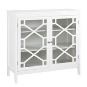 Fetti Large Cabinet in White, 38'' W x 15'' D x 36'' H