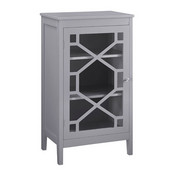 Fetti Small Cabinet in Gray, 20'' W x 15'' D x 36'' H