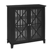 Rapture Awning Stripe Large Cabinet in Black, 36'' W x 15-7/8'' D x 38'' H