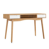Perry Desk in Natural/White, 47-1/4'' W x 21-3/4'' D x 30'' H