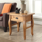 Santa Fe End Table Antique Finish, Antique Pine, 24''W x 18''D x 24''H