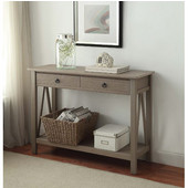 Titian Rustic Gray Console Table, Rustic Gray, 42''W x 14''D x 30-11/16''H