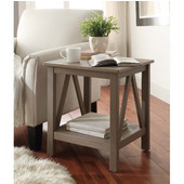 Titian Rustic Gray End Table, Rustic Gray, 20''W x 17-3/4''D x 22''H