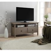 Titian Rustic Gray TV Stand, Rustic Gray, 44''W x 16''D x 22''H