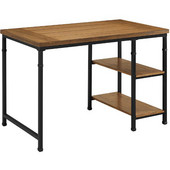 Austin Two Shelf Desk, Black and Ash Veneer, 45''W x 26''D x 30''H