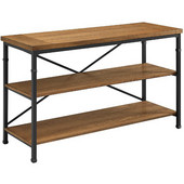 Austin TV Stand, Black and Ash Veneer, 50''W x 18''D x 30''H