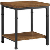 Austin End Table, Black and Ash Veneer, 20''W x 18''D x 22-1/16''H