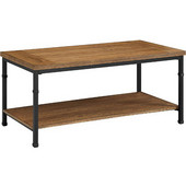 Austin Coffee Table, Black and Ash Veneer, 44''W x 22''D x 20''H