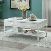Peggy Coffee Table in White, 44'' W x 24'' D x 20'' H