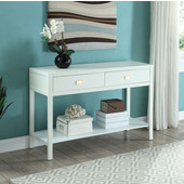 Peggy Console Table in White, 44'' W x 15'' D x 30'' H
