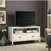 Peggy Media Center in White, 44'' W x 16'' D x 24'' H