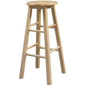 29'' Barstool With Round Seat, Natural, 12-3/4''W x 12-3/4''D x 29''H