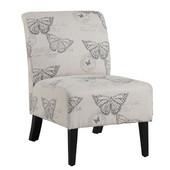 Linen Butterfly Lily Chair, 21-1/2''W x 29-1/2''D x 31-1/2''H