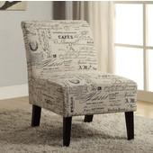 Linen Script Lily Chair, 21-1/2''W x 29-1/2''D x 31-1/2''H