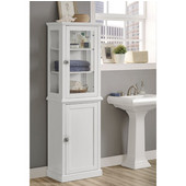 Scarsdale Freestanding Tall Cabinet in White, 21-21/32'' W x 13-25/64'' D x 68-5/16'' H