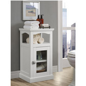 Scarsdale Freestanding Demi Cabinet in White, 15-3/4'' W x 13-25/64'' D x 28-53/64'' H