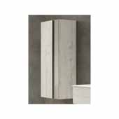 Vision 14'' Width Bathroom Linen Side Cabinet in Abedul and Tortora
