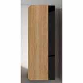 Vision 14'' Width Bathroom Linen Side Cabinet in Canela and Black